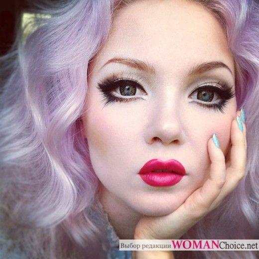 Макияж аниме - как сделать макияж куклы | WomanChoice - женский сайт.