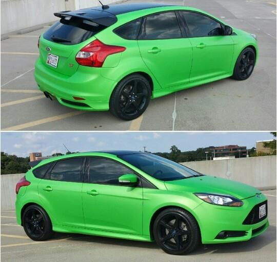 light green ford focus st mk3 ford focus st tuning. Black Bedroom Furniture Sets. Home Design Ideas