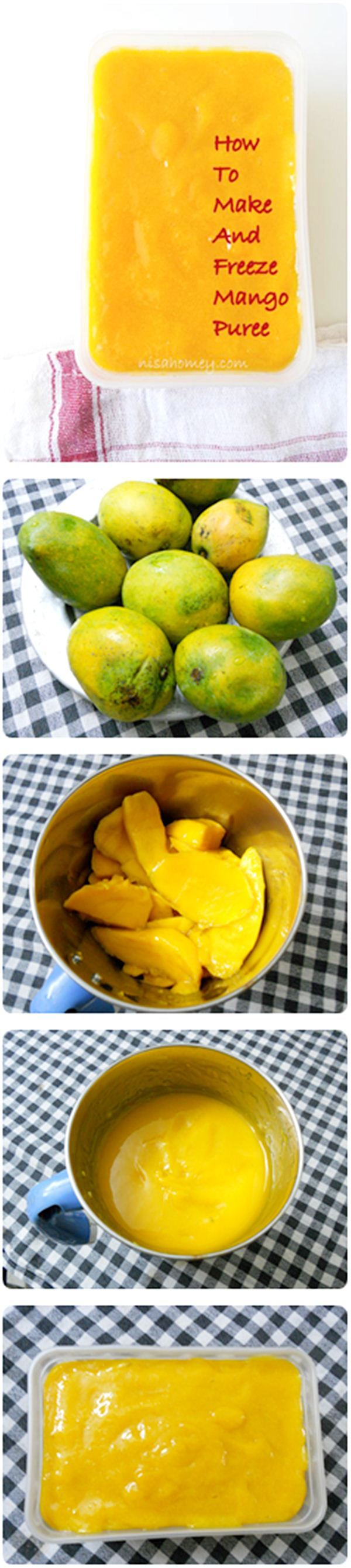 How To Make Mango Puree, DIY Mango Puree is so easy to make...try it you will never buy a can of mango pulp again.