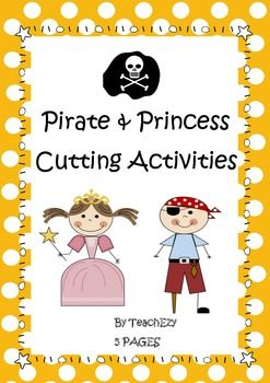 Pirates and Princesses Cutting Skills