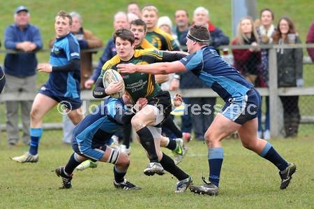 Rugby action from London One North title decider between Bury and Eton Manor.