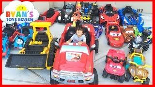 HUGE POWER WHEELS COLLECTIONS Ride On Cars for Kids Compilations Part 1 - YouTube