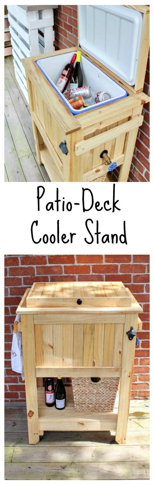 Patio/Deck Cooler Stand | #InspirationSpotlgiht