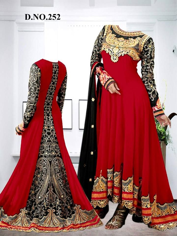 Fabric embroidery Anarkali Salwar Suit and Designer's Dresses  Shop Now @ http://www.fashion4style.com/woman/clothing
