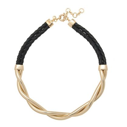 Gold braid necklace | J Crew