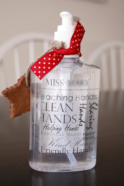 ... or clear hand soap. Great idea for different holidays or gifts