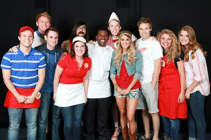 The cast of #studioC hanging out with Carrie Underwood on July 4th!