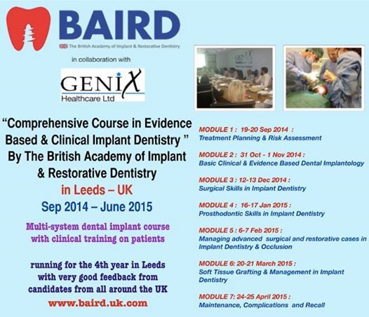 Comprehensive Course in Evidence Based & Clinical Implant Dentistry