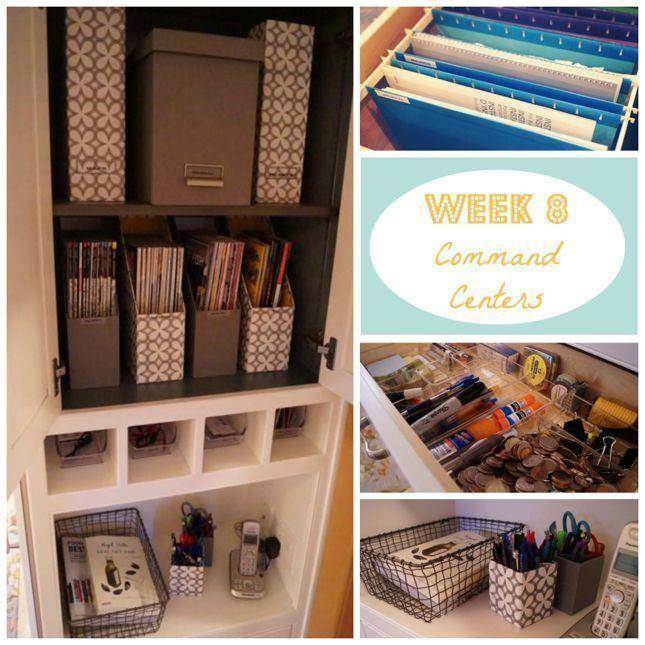 Kuzak's Closet 8 Weeks to Home Organization Bliss! Home Command Center