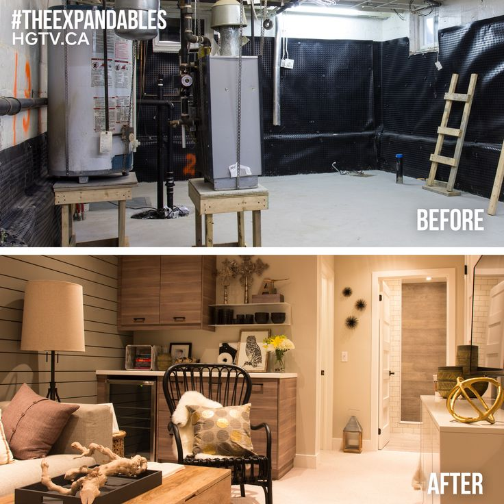 """Feature Wall - #ParaPaints Film Festival (P5221-41).  Walls - #ParaPaints Snappy Dresser (P5221-24).  Ceiling, trim and doors - #ParaPaints Soapy Water (P5223-14D)  // Episode 3 """"Reno Lullaby"""" from #HGTV Canada's #TheExpandables. Watch the full episode here: http://s.hgtv.ca/1KR6Z5E #basement #Tricon"""