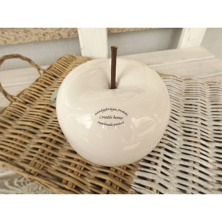 Jabłko ceramiczne-szkliwione