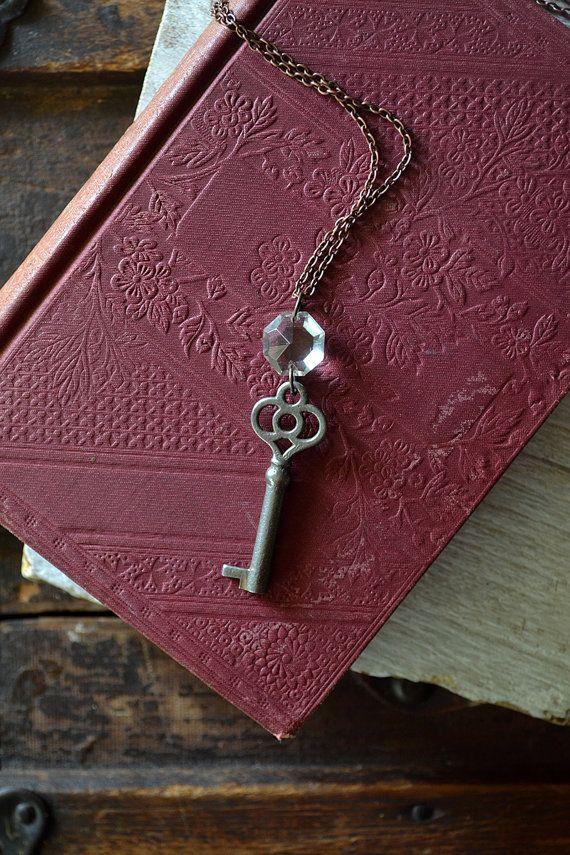 The Princess Key  Copper Key Necklace  Antique by Keytiques