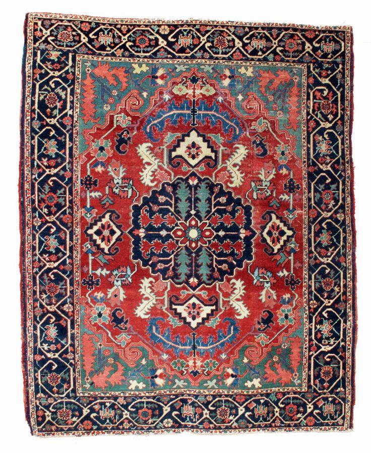 Vintage Persian Heriz Design Wool Area Rug: 1030 Best Lionel Heriz Serapi Rugs. Images On Pinterest