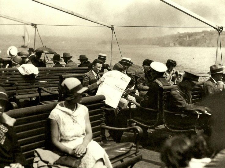 ON THE BOAT TO PRINCE ISLANDS, Istanbul, 1928, National Geographic Archive.    Here are some members of Istanbul's urban middle class taking a boat trip to the Princes' Islands on the Marmara Sea in the summer of 1928.