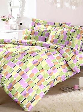This neat and stylish patterned set in calming pastel shades comes with a double bedsheet and two pillow covers. It has the best quality fabric in 100% cotton that will last you through multiple washes. It will also last long against wear and tear and continue to feel soft and comforting. Our trusted brand offers the best in luxury, quality and comfort. Info