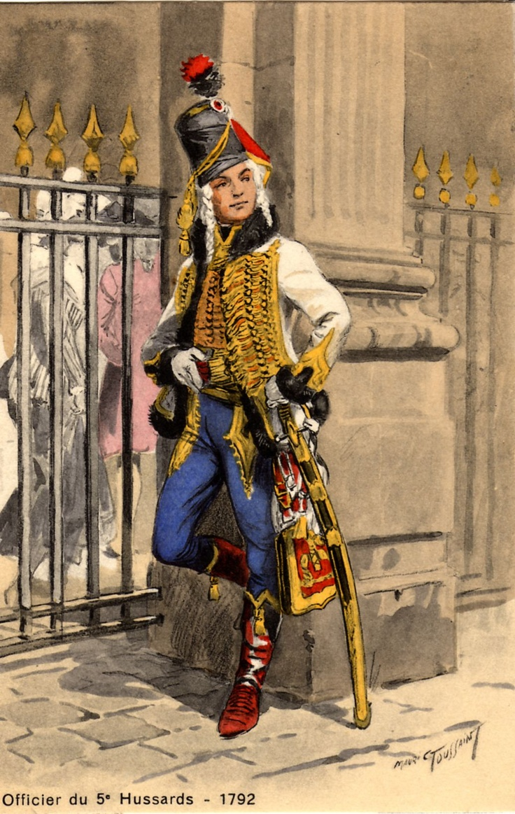 Officier du 5e Hussards (ex Lauzun) en 1792