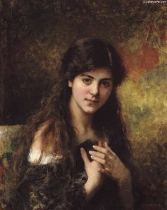 Alexei Alexeievich Harlamoff - Dark Haired Beauty