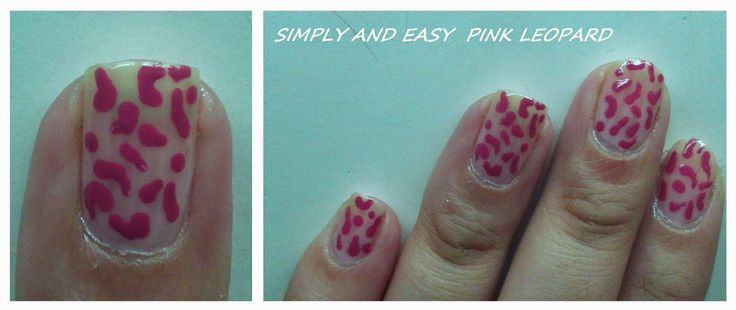 NaviColors: Nails Tutorial : Easy and Simply Pink Leopard ♥