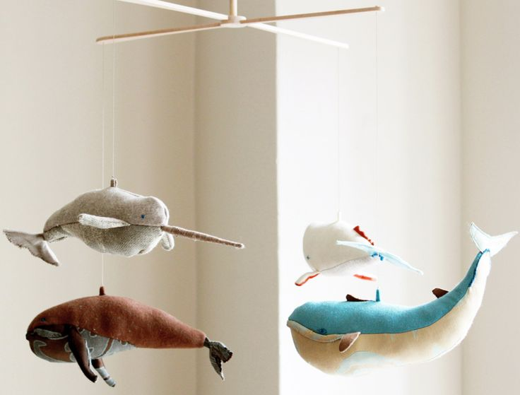 Whale mobile: Nurseries Decor, Whales Mobiles, Children, Cute Whales, Narwhals, Kids, Things, Baby, Crafts