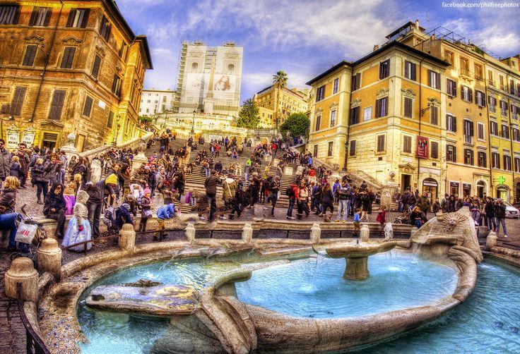 Also I can ruin the Barcaccia Fountain by Luca Lorenzelli on 500px  #rome #roma #italia #travel #viaggi #photography #fotografia