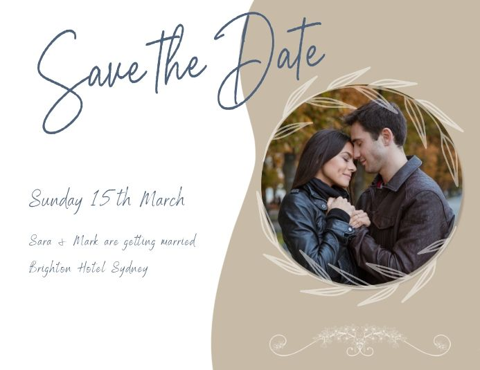 Save The Date Flyer Template In 2021 Save The Date Cards Save The Date Invitations Save The Date