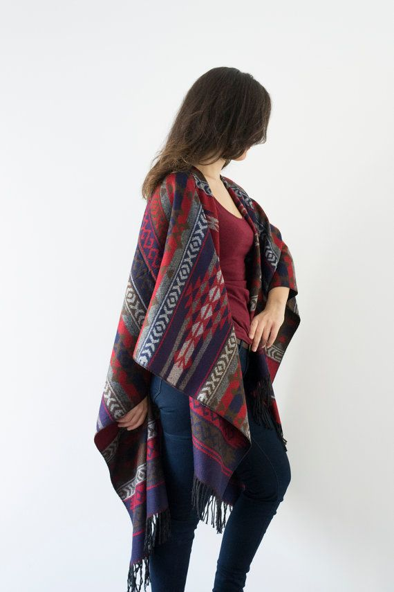 Cotton Ponchos are definitely not to be missed this winter! #ILoveMyCotton #Winter #Fashion #Women #Poncho