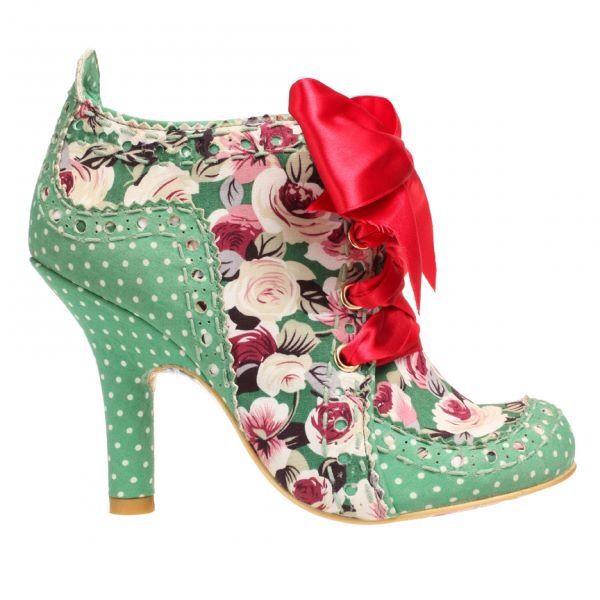 New irregular choice *abigails party * floral shoe boots-36-37-41 (uk 3.5-4-7.5)