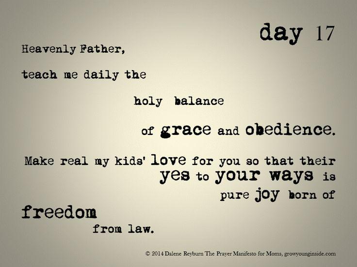 day 17 of The Prayer Manifesto for Moms