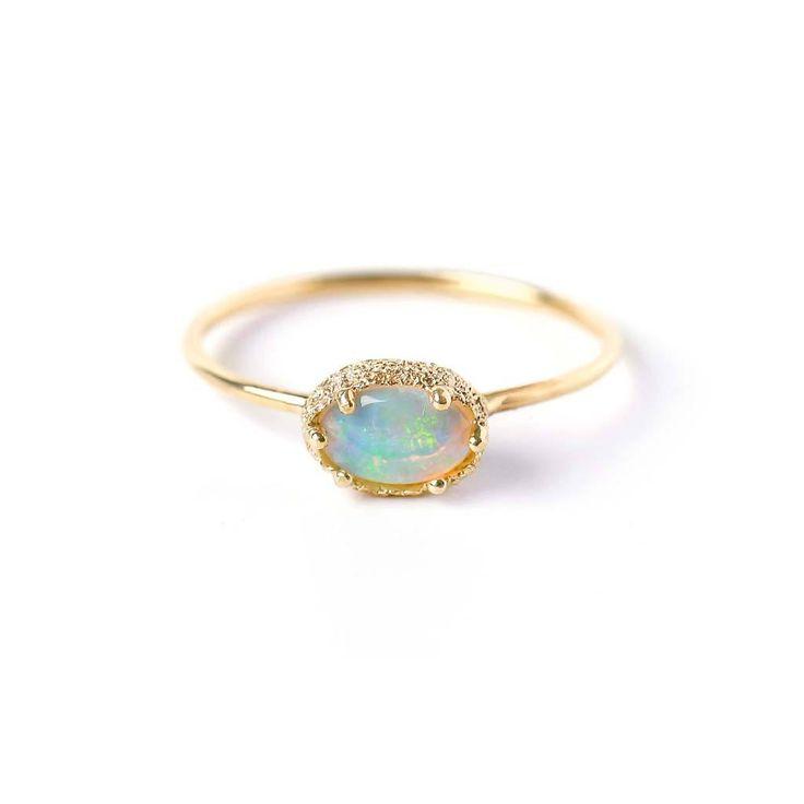 Meteorite Opal Stacking Ring.