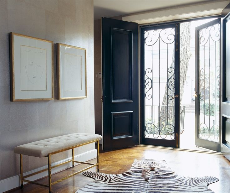 <3this option ~wood panel french doors with glass french doors to allow for light when desired:)