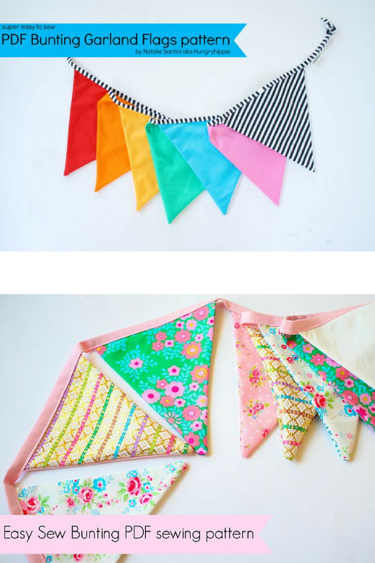 With this bunting sewing pattern you can make your own bunting for every occasion imaginable! #bunting #pattern #sewing #diy #decoration #ad