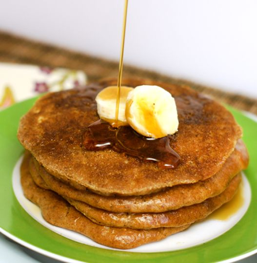 "Almond Butter Pancakes (Grain-Free). These are the best ""Paleo"" pancakes I've ever tried!"