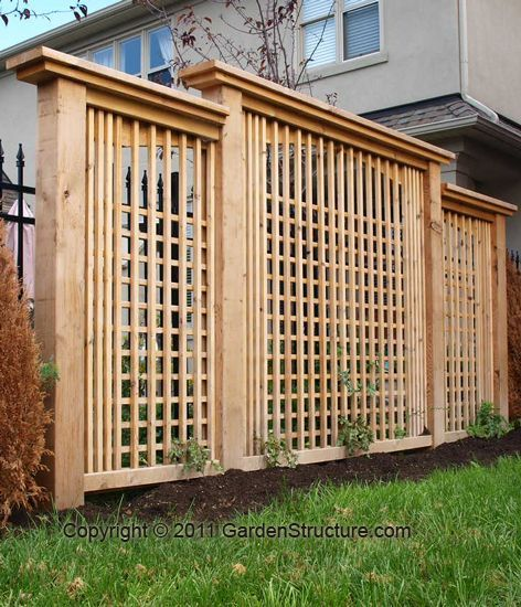 A DIY Modern Privacy Screen plan by GardenStructure.com. We are builders first, so our step by step plans will make sense and the trellis will last decades!