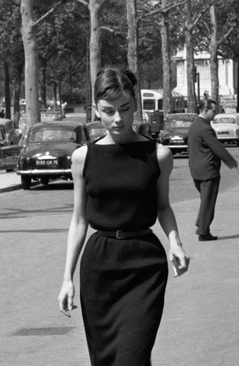 Audrey's little black dress.