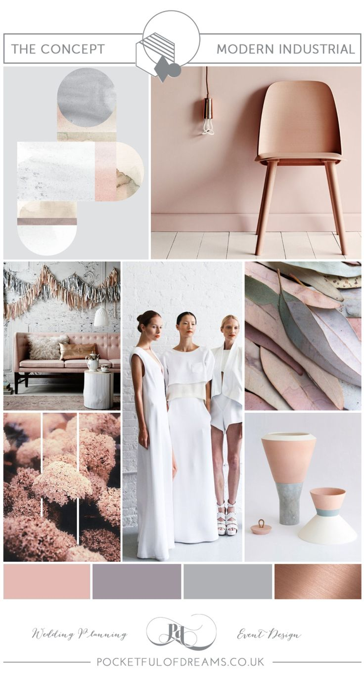 Bridal Inspiration Boards #79 ~ Modern Industrial Style Wedding Colour Palette and Decor | Love My Dress® UK Wedding Blog