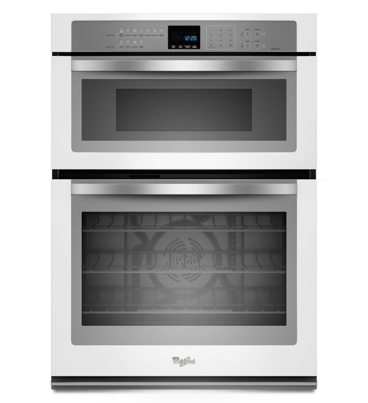 "Whirlpool WOC95EC0A 30"" Gold® Series 5.0 Cu. Ft. Combination Microwave and Wall White Ice Ovens Electric Single with Microwave"