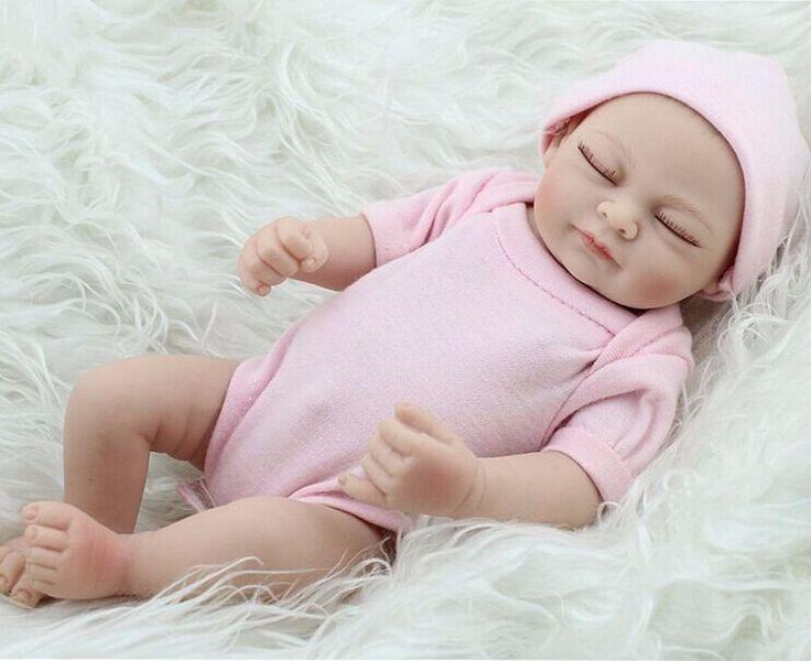 "11"" Handmade Real Looking Newborn Baby Vinyl Silicone Realistic Reborn Doll Girl"