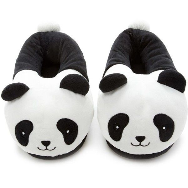 Forever 21 Women's  Panda House Slippers ($13) ❤ liked on Polyvore featuring shoes and slippers