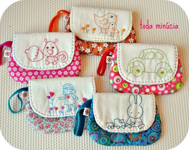 ∞ mini-nécessaires bordadinhas ∞ by toda minúcia, via Flickr