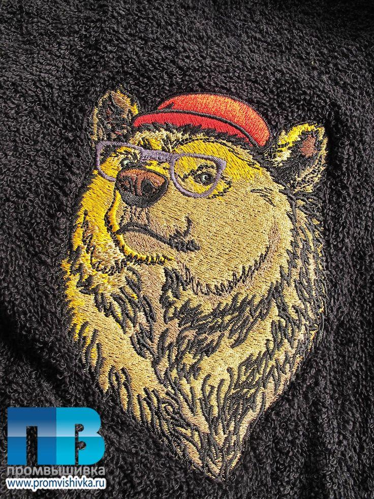 Нанесение на халаты медведя