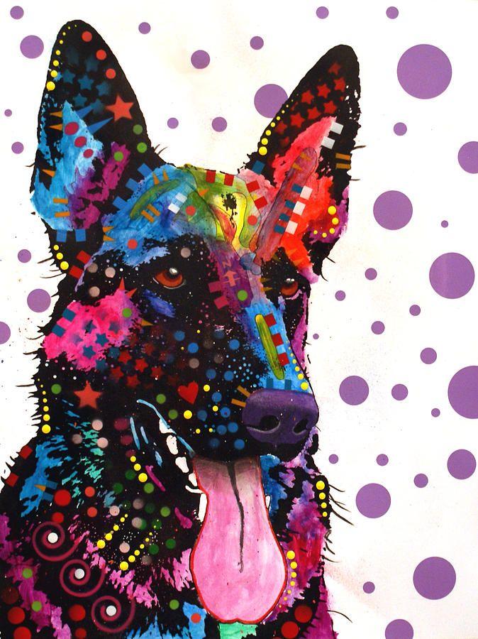 German Shepard: Shepherd Art, Pop Art, German Shepards, Dean Russo, Colors Art, Dean O'Gorman, Art Prints, Dogs Art, German Shepherd