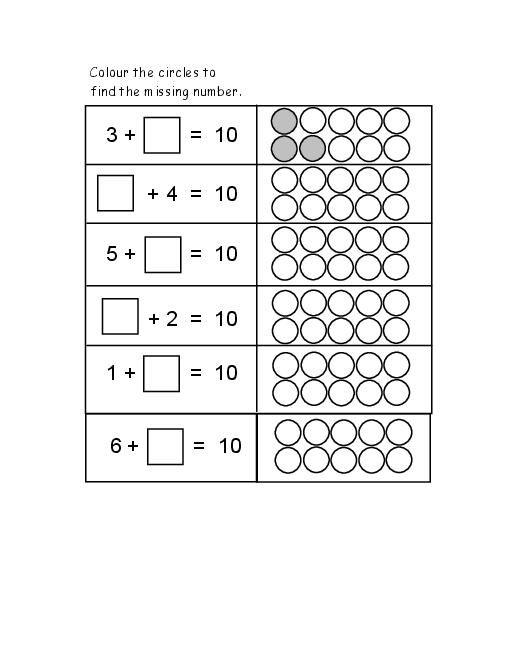 Find The Missing Number For Grade 1 2 Kids Homework
