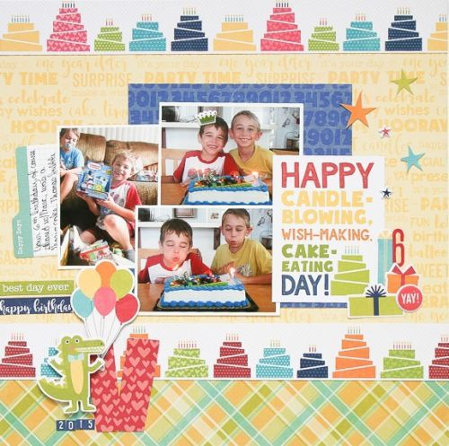 Vinny's Birthday Layout by Wendy Antenucci featuring Jillibean Soup Souper Celebration