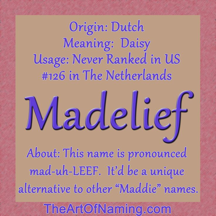 "This adorable Dutch name means ""daisy!"" #babynames"