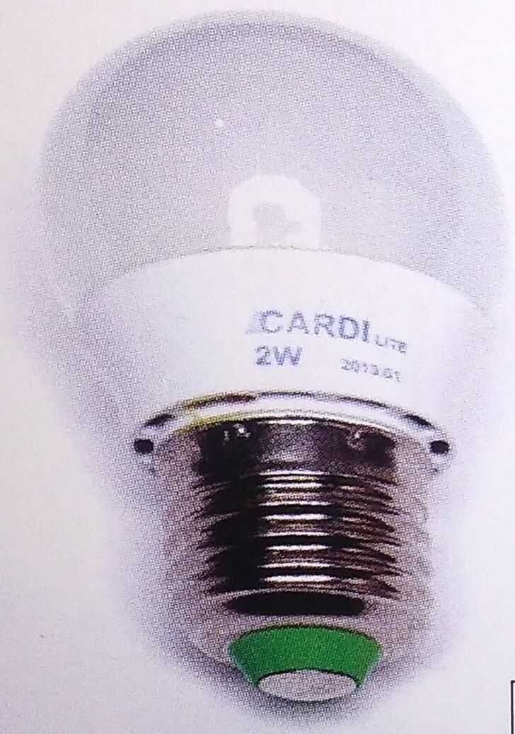 Lampu LED Bulb Cardilite Mini adalah produk lampu led AC 220 volt berdaya hanya 2 watt, sangat hemat dan cocok sebagai lampu ruang yang tidak terlalu terang