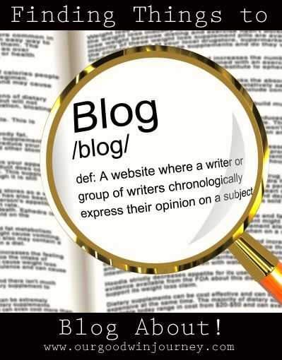 Do you ever wonder what you could blog about? Finding Things to Blog About - Blogging Tips