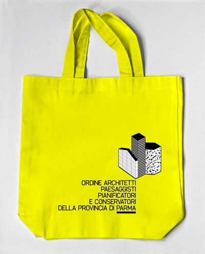 tote bag / competition proposal / ordine architetti parma / identity by spectacularch! & IlogU / www.spectacularch.com & www.ilogu.it