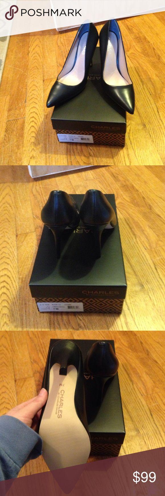 Brand New Charles David black heels size 7 Brand New in box black high heels Charles David heels size 7 Charles David Shoes Heels