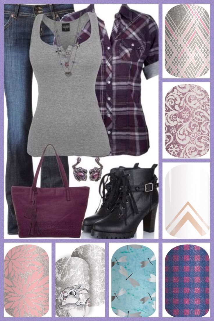Jamberry Fall 2016 Gray & Purple outfit with Jams. What would you wear? @GloriasGorgeousJams