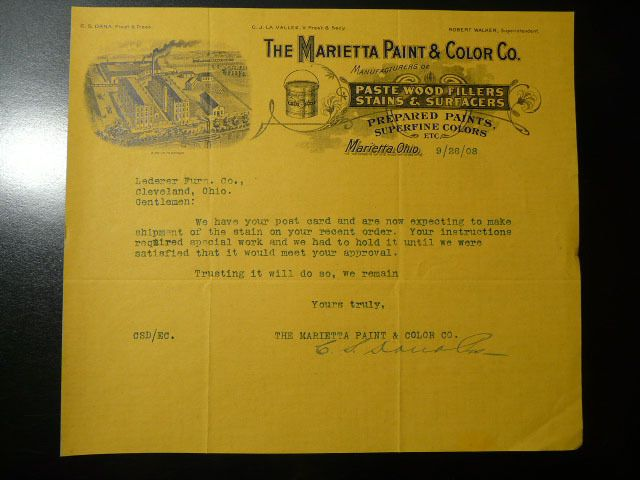 731 best billheads cuts testimonials images on pinterest 1908 letterhead marietta paint color co marietta ohio malvernweather